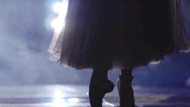 Klasický balet baletka na pointe