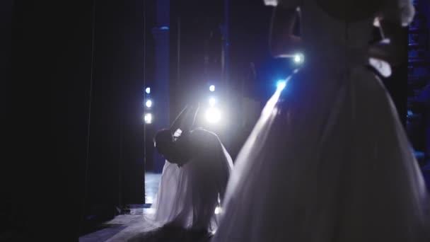 klassische Ballett-Ballerinen auf den Punkt