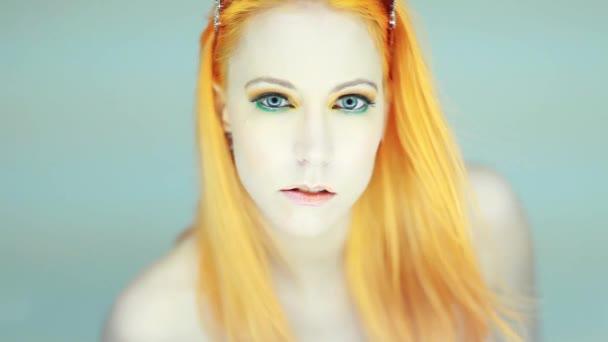 Womans arc szépség portréja