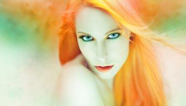 beautiful woman artwork