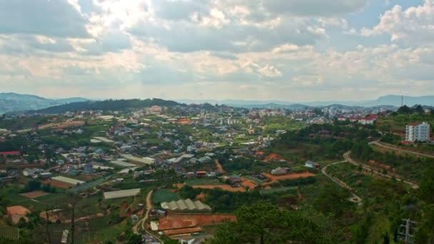 Horní pohled na celé město