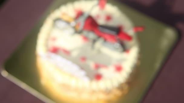 Narozeninový dort motorka