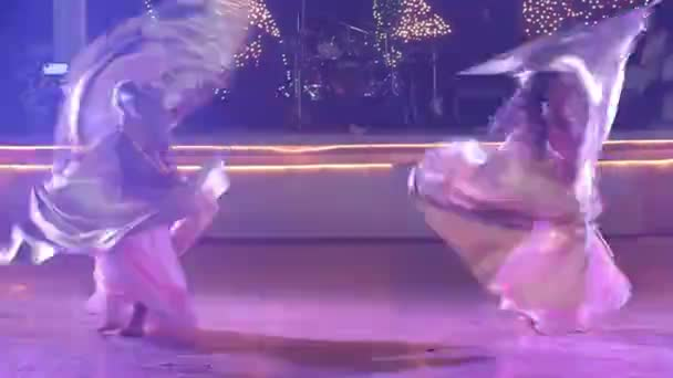 Two young girls  dancing