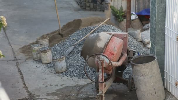 Betonmischer auf Baustelle