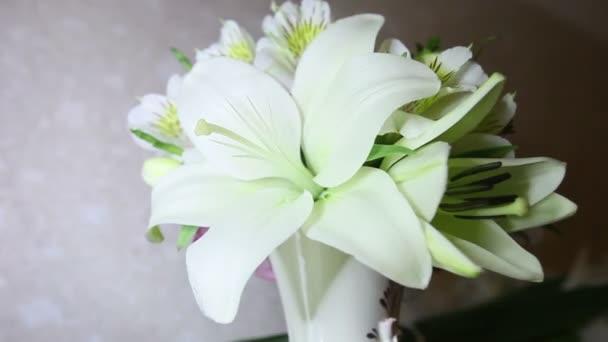 Lily květiny ve váze