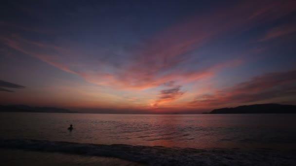 dawn clouds above sea island