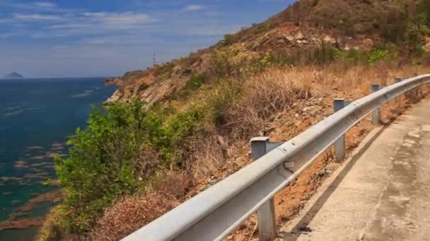 pohled na horské silnice chodník ve Vietnamu