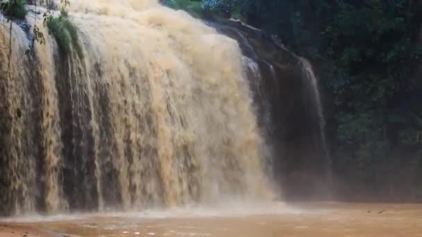 closeup splashes of waterfall