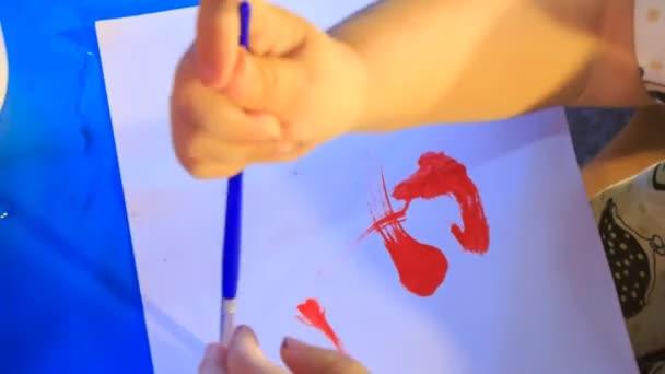 dětský ruční barvy