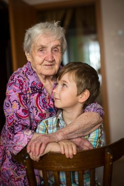 Grandmother with her little grandson