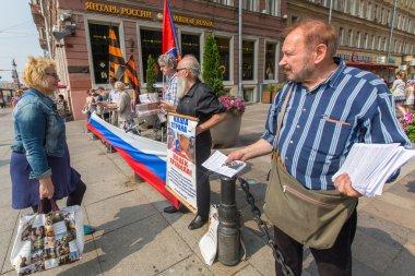 Activists of pro-Putin organization
