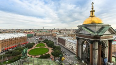 View from the colonnade of St. Isaac's Cathedral