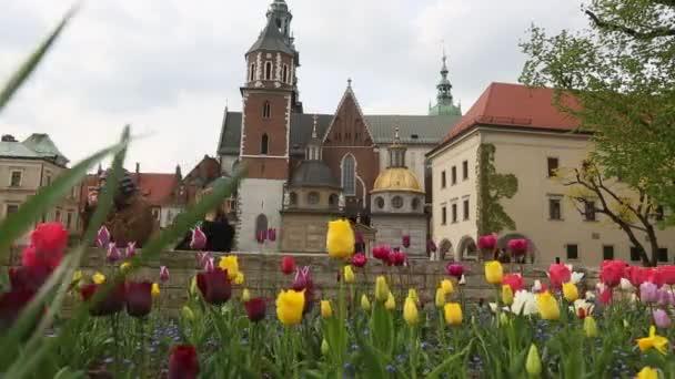 Na území královský palác v Wawel. Krakov, Polsko