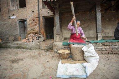 Nepalese woman working