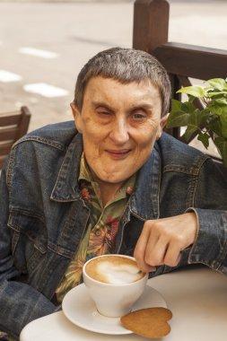 Elderly disabled man