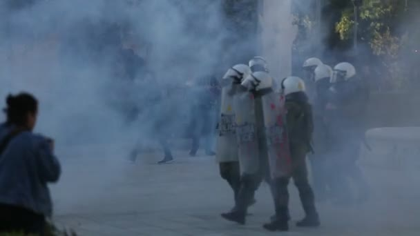 Protests in Athens, Greece.