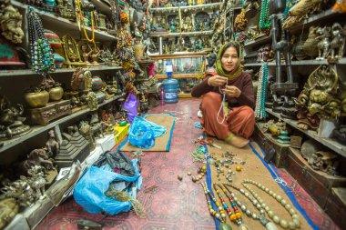 Unidentified woman seller