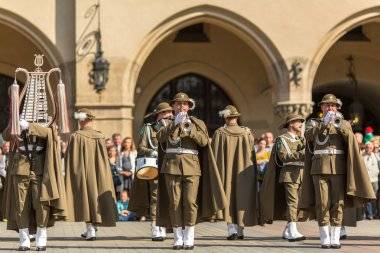Military Band on main square of Krakow
