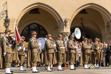 Military orchestra on main square