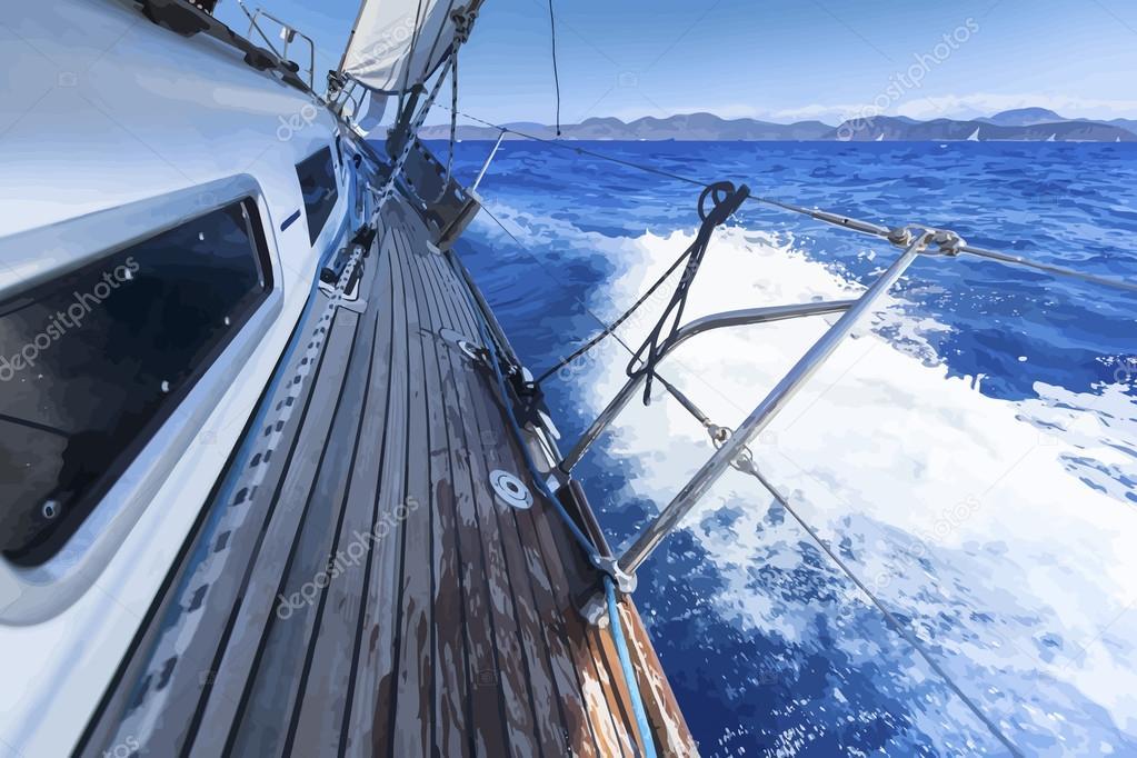 Ship in the open Sea.