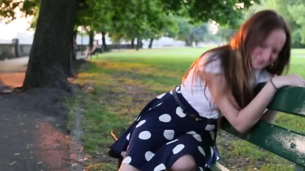 Cute teenage girl upset and crying
