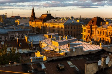 rooftops of the historic center of St. Petersburg