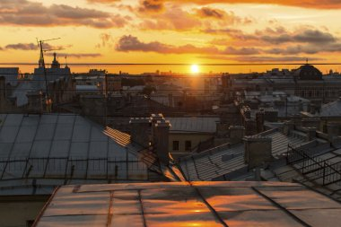 rooftops historic center of St. Petersburg,