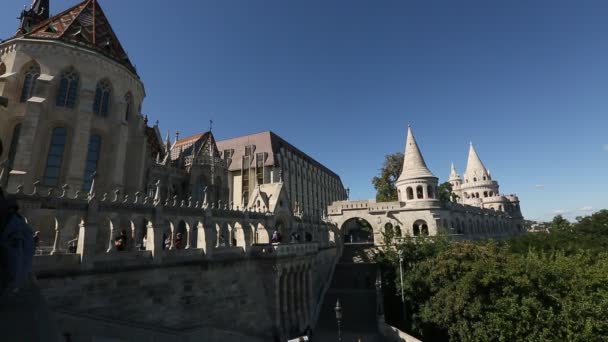 Fishermans Bastion is a terrace in neo-Gothic and neo-Romanesque style situated on the Buda bank of Danube, on the Castle hill in Budapest