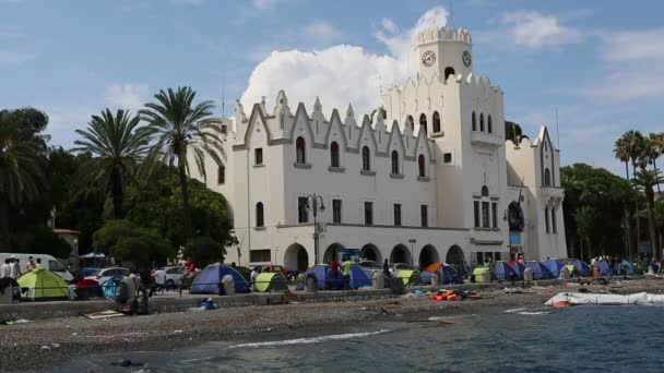 Tents war refugees in Kos island