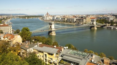 Panorama of the Danube river