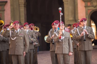Military orchestra  on main square in Krakow