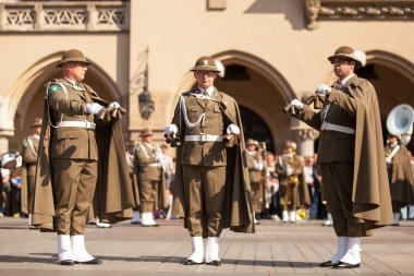 Military orchestra , Constitution Day in Krakow