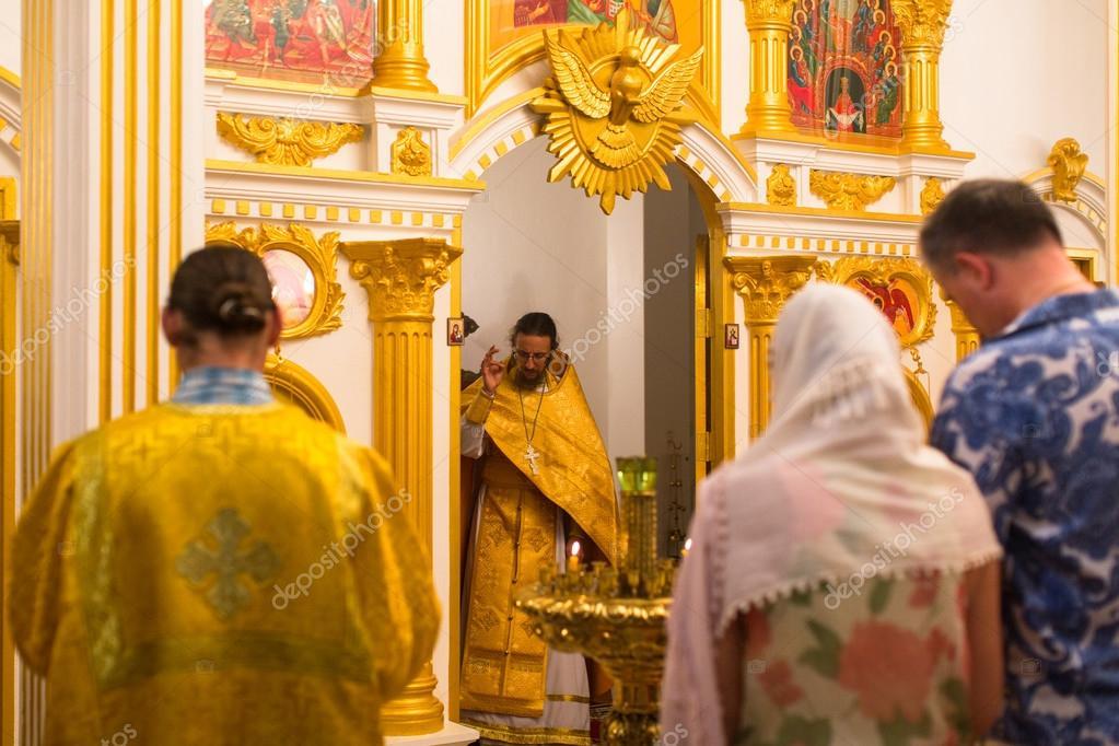 Weihnachten Orthodox.Orthodoxe Weihnachten Dienst Und Der Mahnwache Auf Der Insel Koh