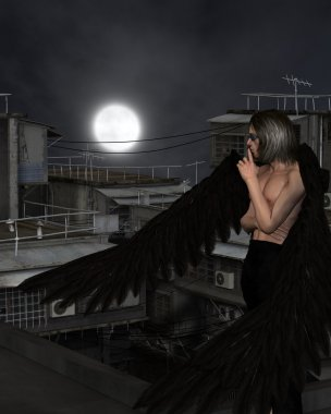 Male Urban Guardian Angel, Standing