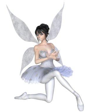 Snowflake Fairy Ballerina Kneeling