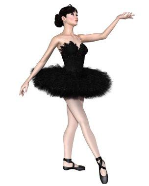 Black Swan Ballerina from Swan Lake