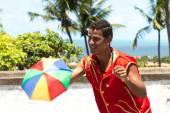 Fotografie Brazilské muž tančí Frevo v Olinda