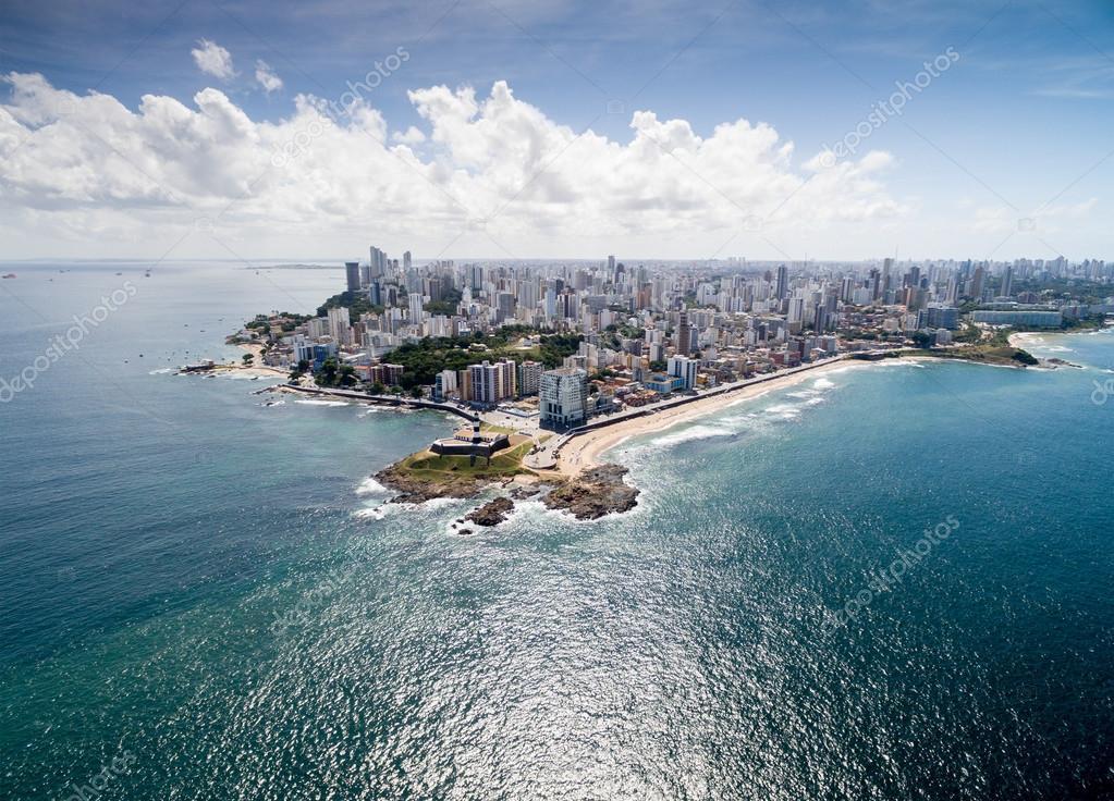 Salvador coast in Bahia