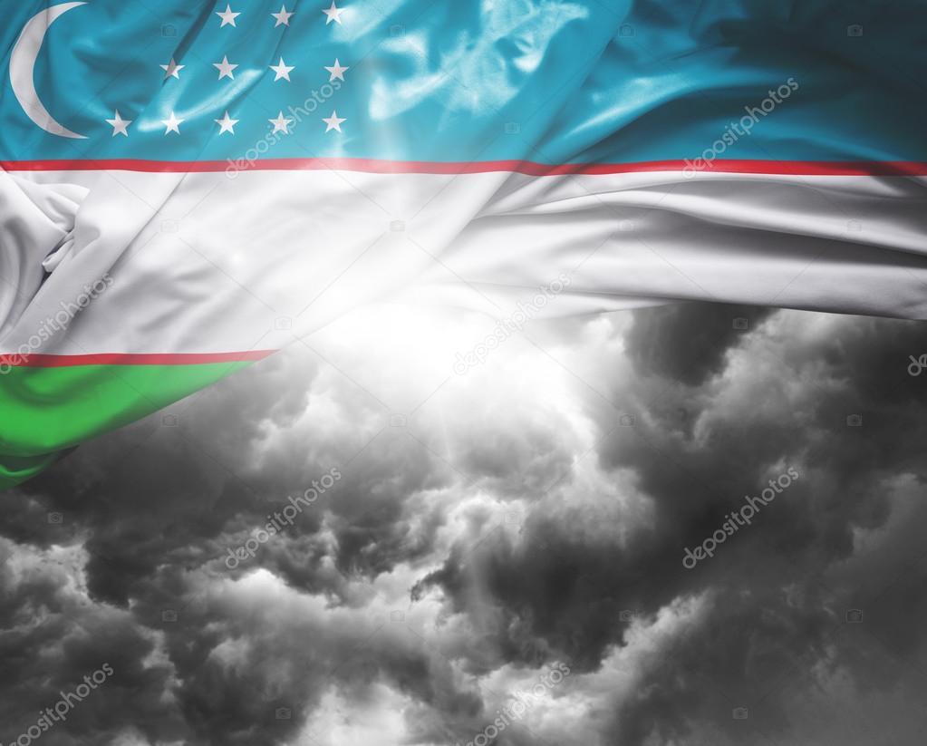 uzbekistan national flag