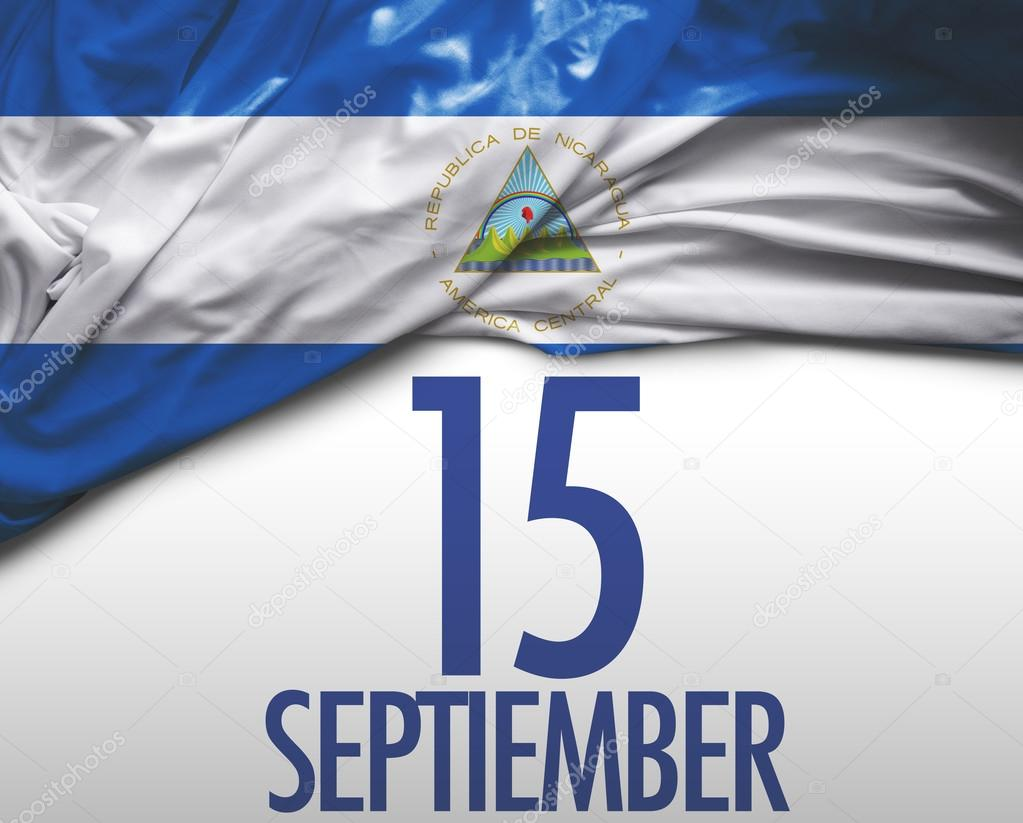 september 15 nicaragua independence day stock photo