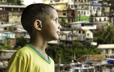 Brazilian boy looking to the infinite