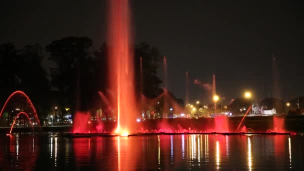 The fountains in Ibirapuera Park, Sao Paulo, Brazil