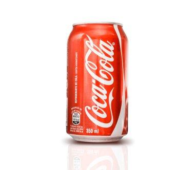 SAO PAULO, BRAZIL - CIRCA NOV 2014: 350ml Coca Cola Bottle Can on white background.
