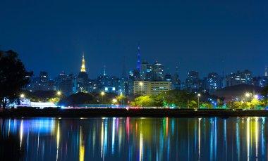 Sao Paulo City at night in Brazil