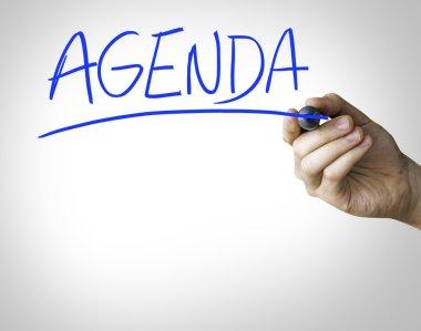 Agenda hand writing