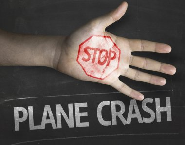 Stop Plane Crash on the blackboard