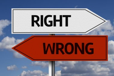 Right x Wrong Creative sign
