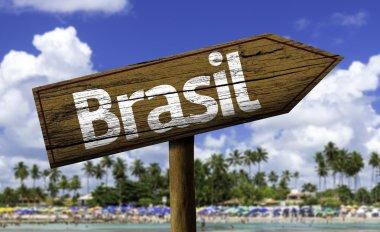 Brasil wooden sign