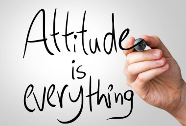 Attitude is everything hand writing