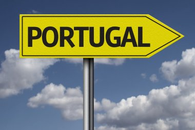 Portugal yellow sign